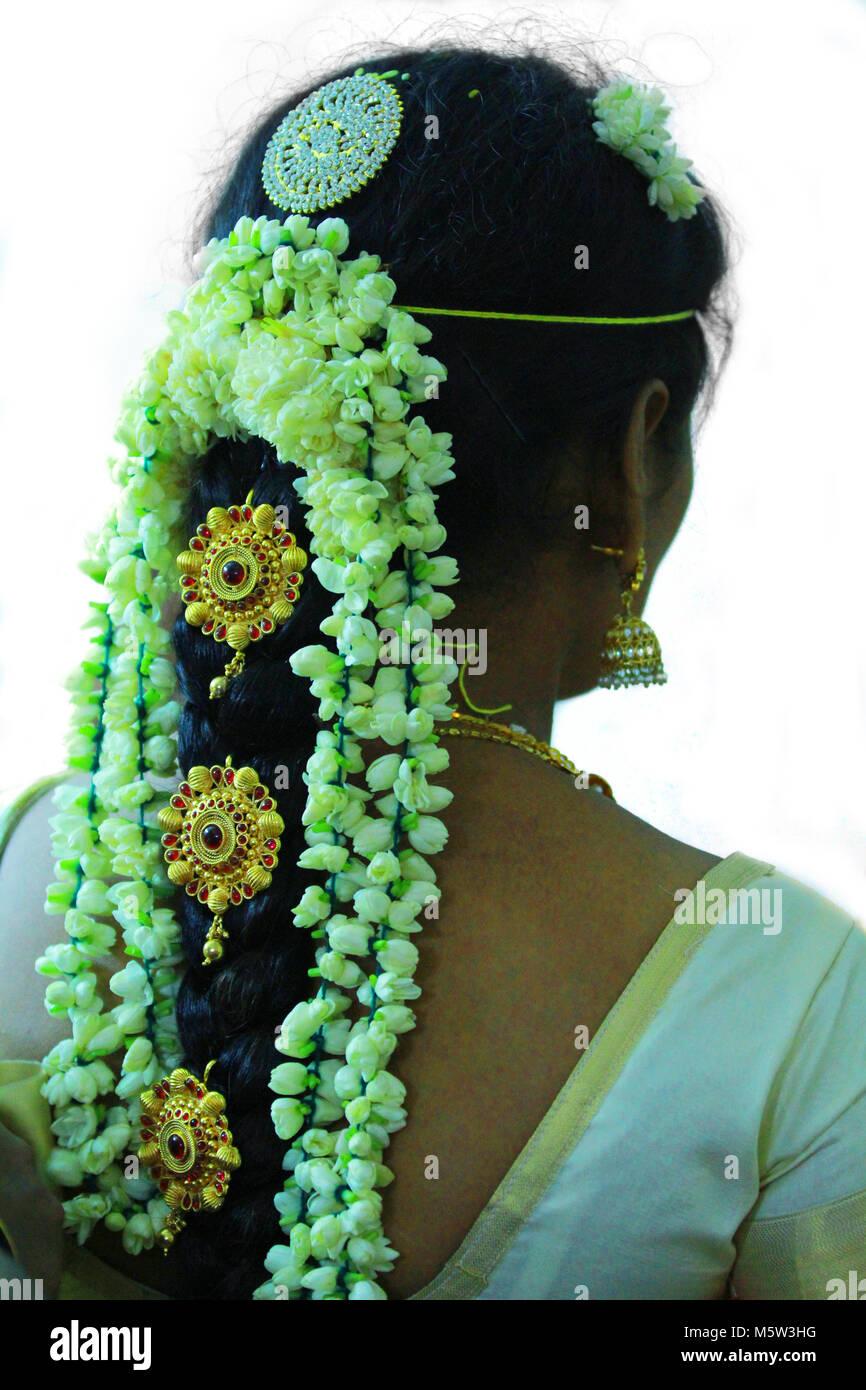 Hochzeit Frisuren, indische Braut-frisuren Stockfotografie - Alamy