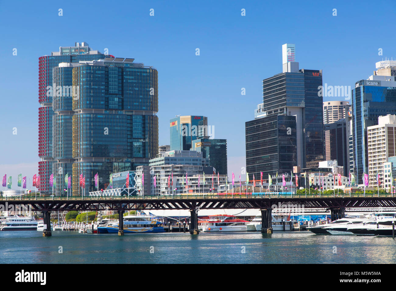 Barangaroo und Darling Harbour, Sydney, New South Wales, Australien Stockbild