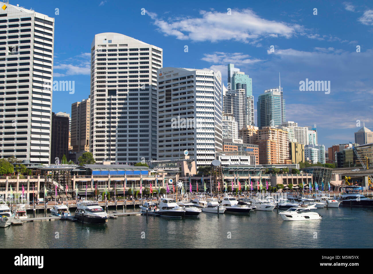 Darling Harbour, Sydney, New South Wales, Australien Stockbild
