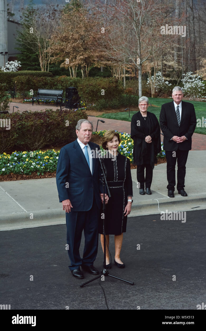 Charlotte Nc Usa 26 Februar 2018 Franklin Graham Frau Jane