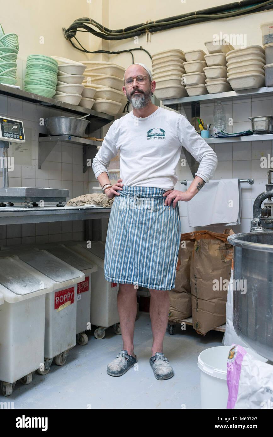 Der Kopf Bäcker der Unendlichkeit Lebensmittel in Brighton steht in ...