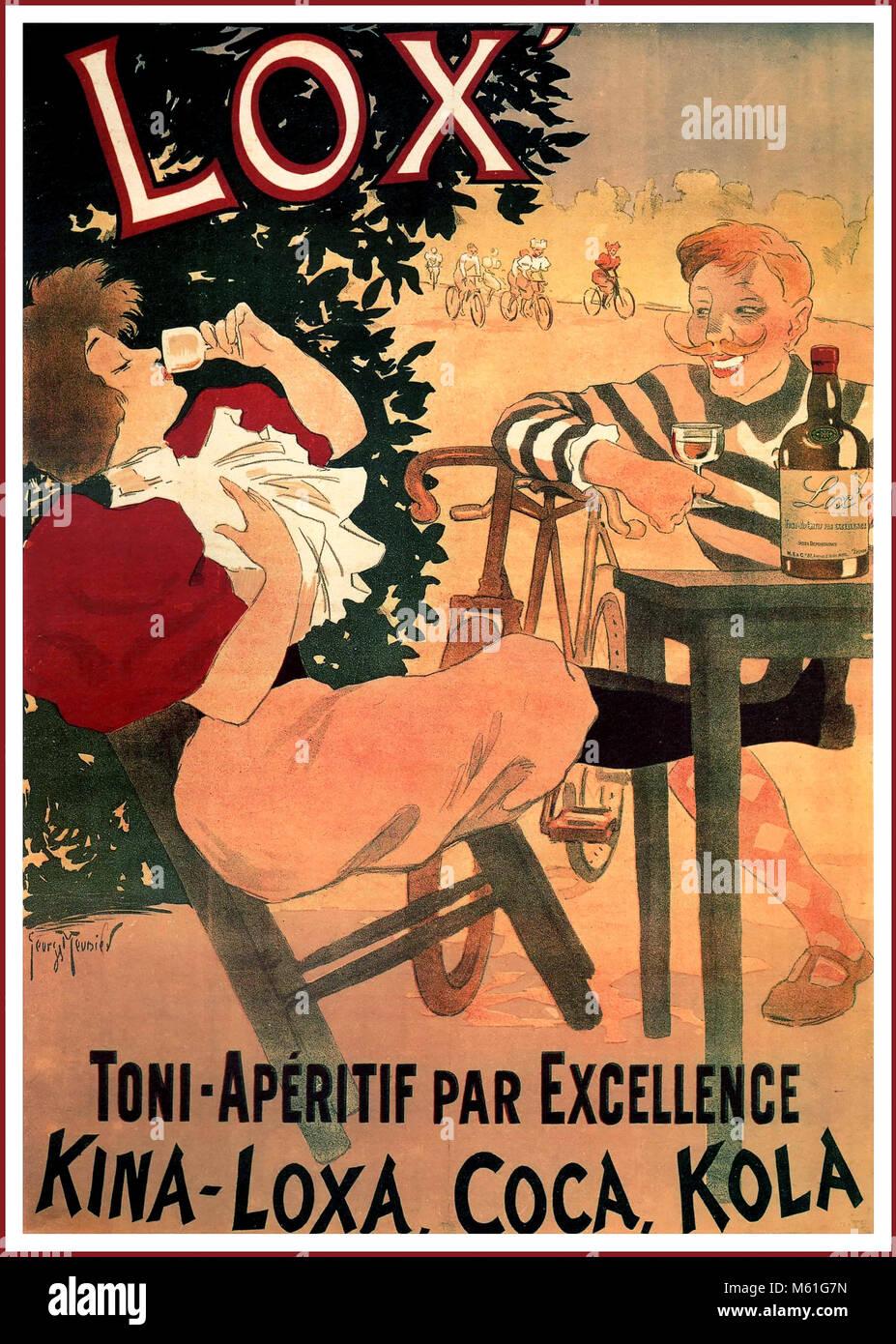 1890 Vintage französische Getränk Poster\' Lox-Toni-Aperitif par ...