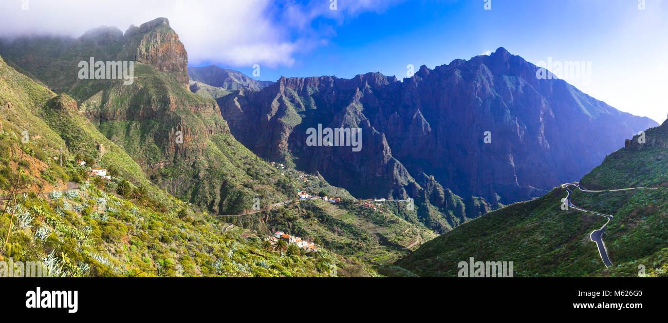 Beeindruckende Berge in Teneriffa, Masca, Spanien. Stockbild