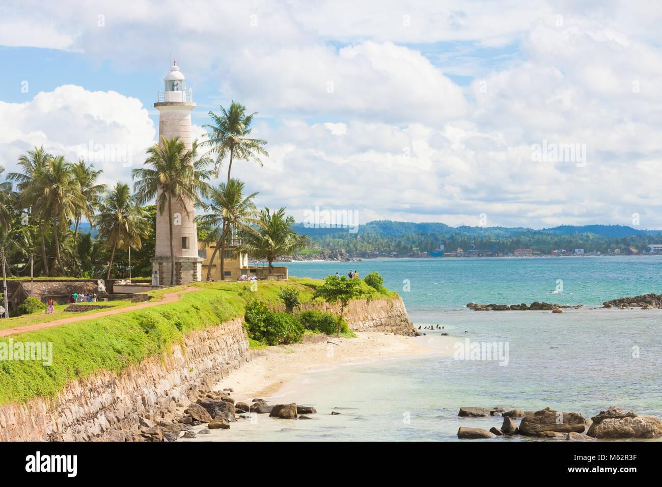 Galle, Sri Lanka, Asien - Besuch der alte Leuchtturm von Galle Stockfoto
