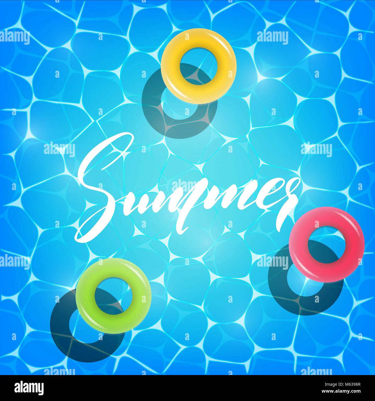 Sommer Pool Party. Abbildung: Sommer Pool Party Einladung, Banner ...