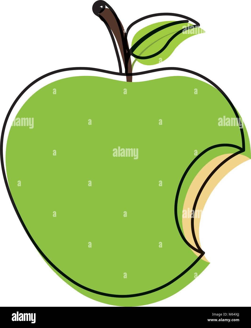 Bitting Apple Symbol Vektor Abbildung Bild 175900330 Alamy