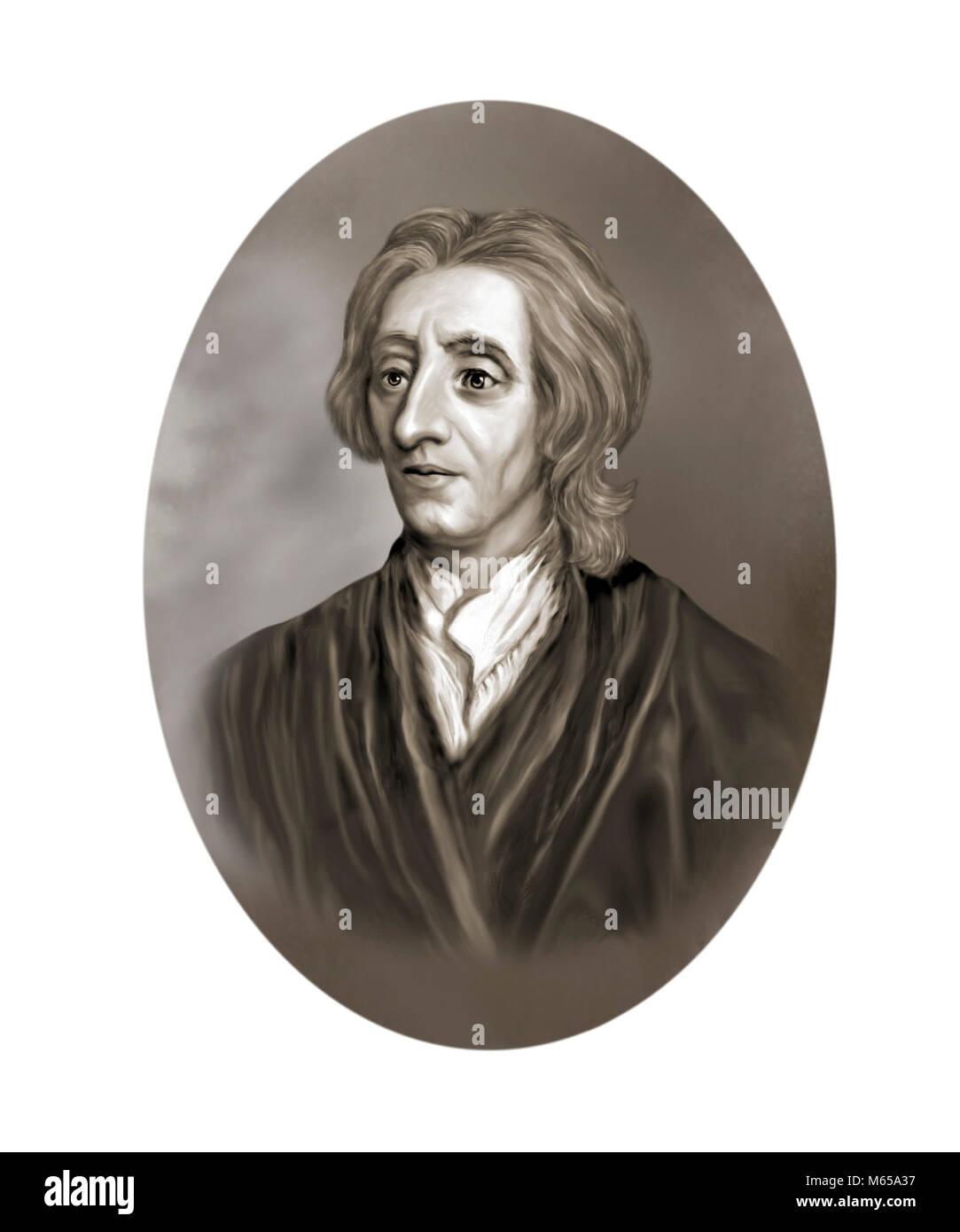 John Locke, 1632 - 1704, englischer Philosoph Arzt Stockbild