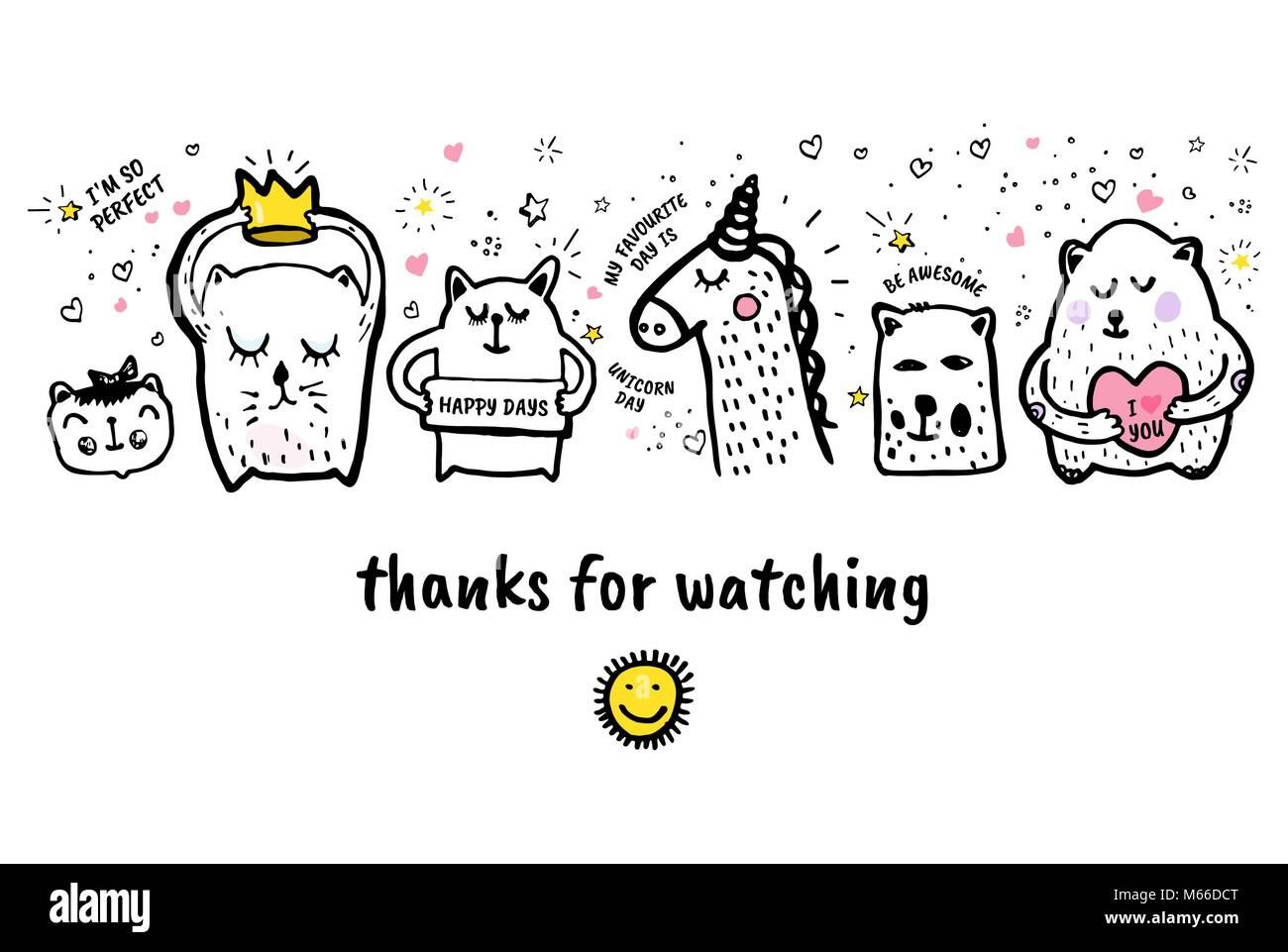 vector illustration vielen dank f r ihre aufmerksamkeit banner video blog artikel vektor