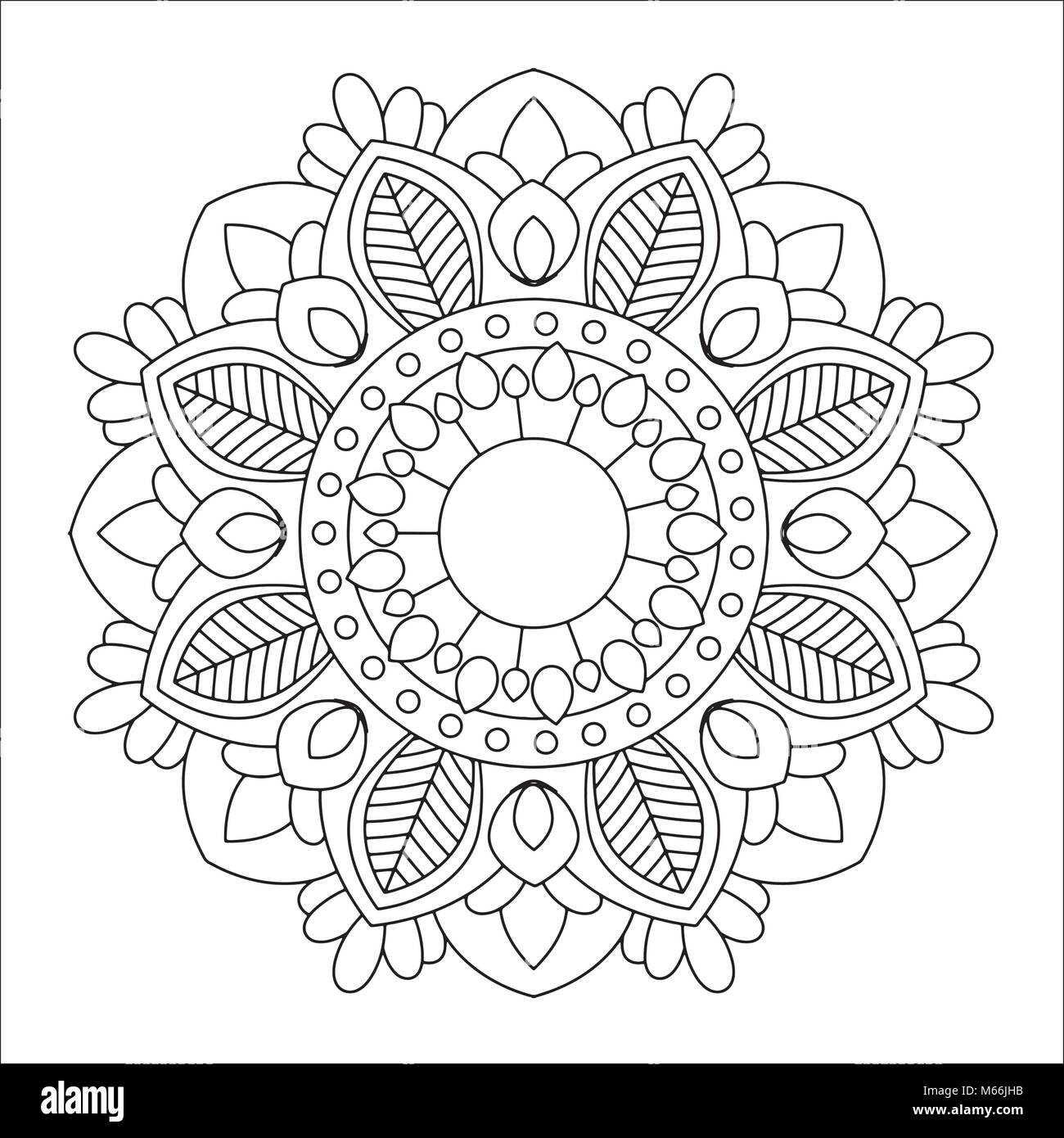 Blume Mandala Vector Illustration Vektor Abbildung - Bild: 175937927 ...