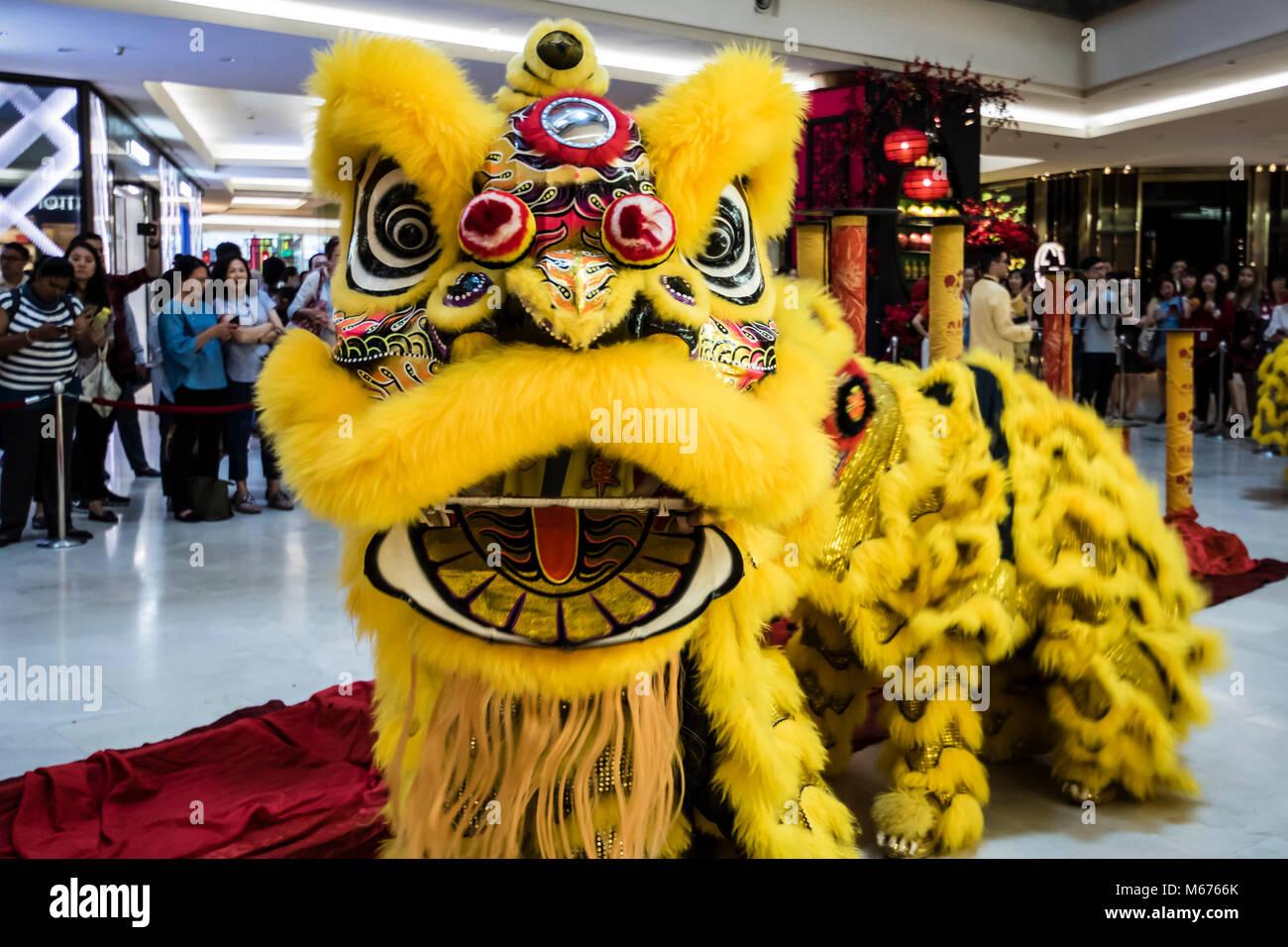 Kuala Lumpur, Malaysia. 28 Feb, 2018. Der Gott des Wohlstandes um ...