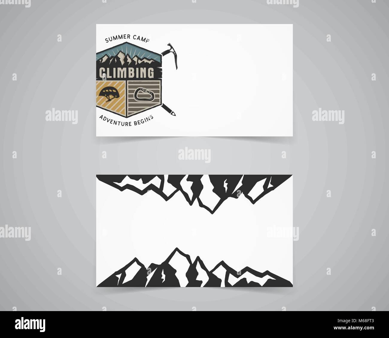 Mountains Logo Template Stockfotos & Mountains Logo Template ...