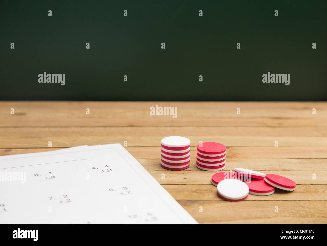 Math Worksheet Stockfotos & Math Worksheet Bilder - Alamy