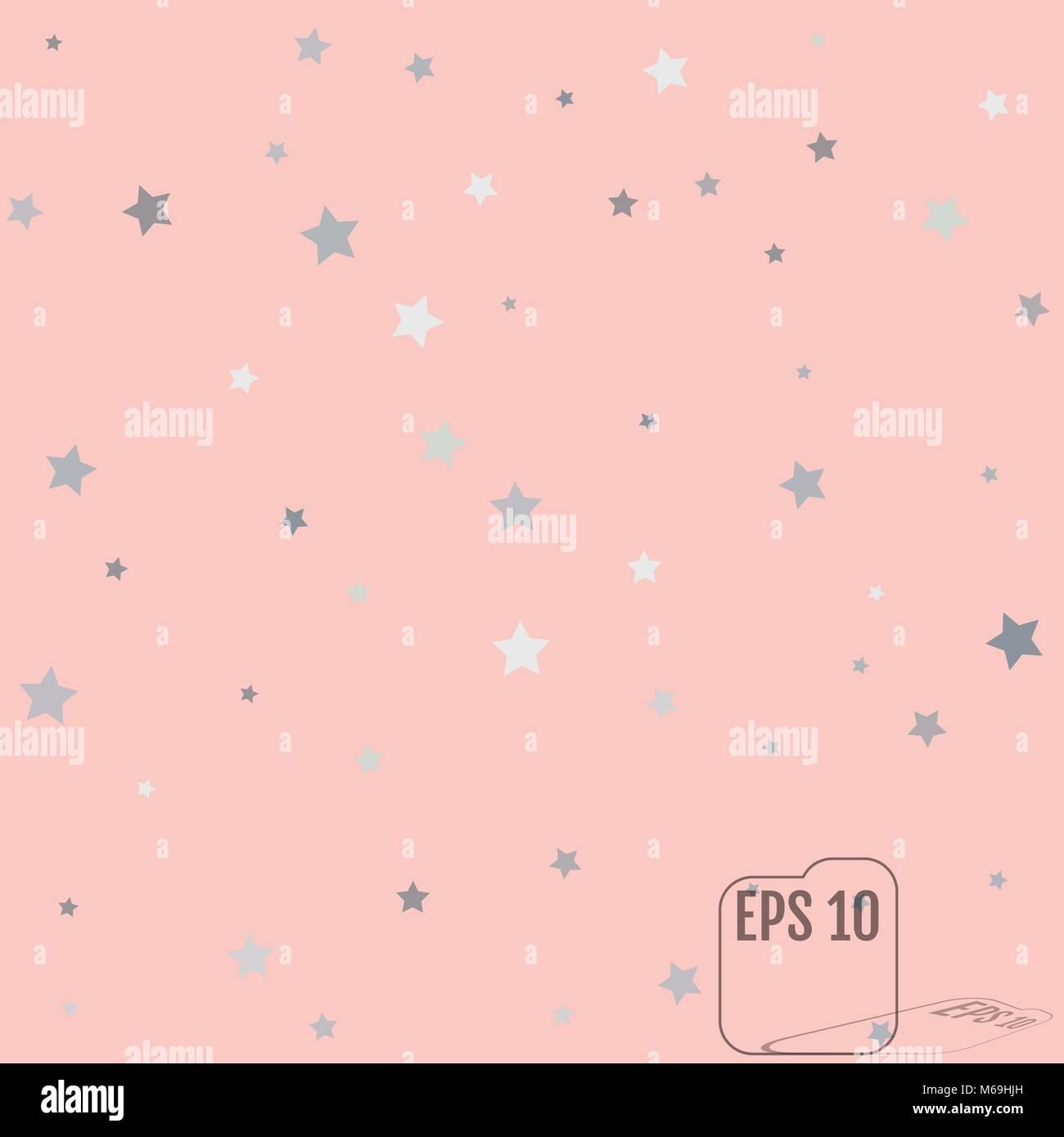 Silber Glitzer Sternschnuppen Silber Funkeln Sterne Auf Rosa