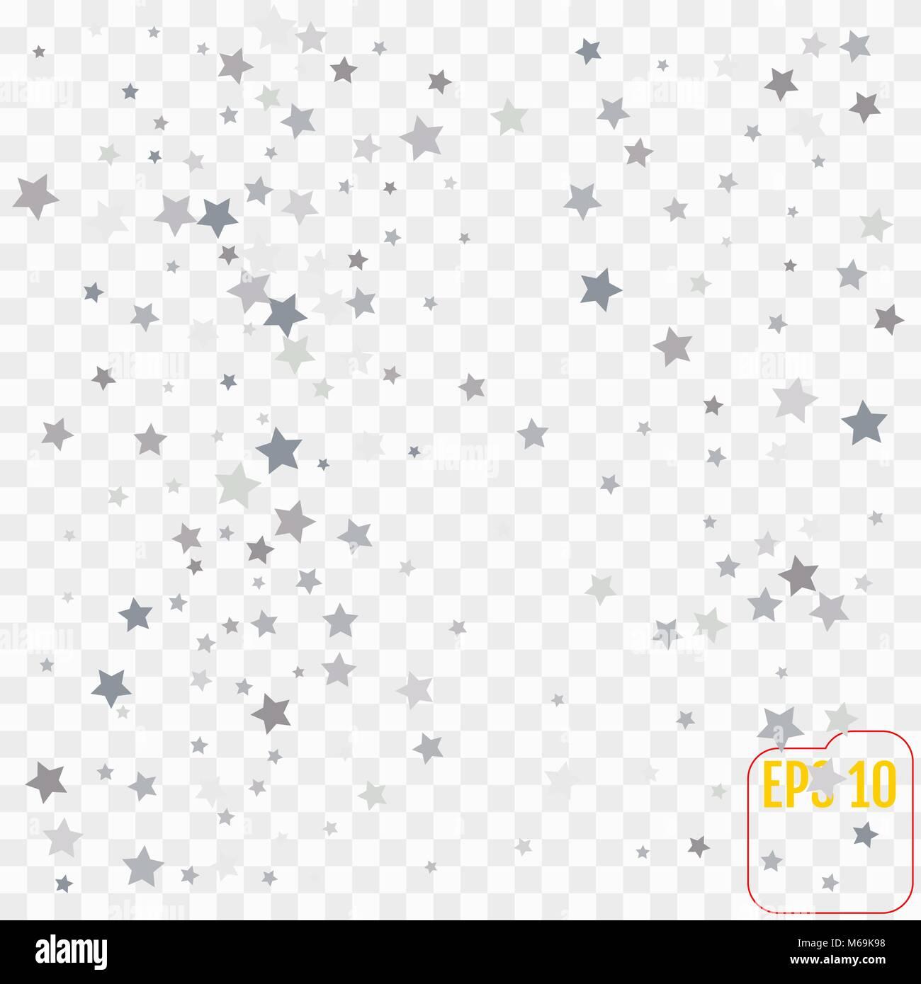 Silber Glitzer Sternschnuppen. Silber funkeln Sterne auf ...