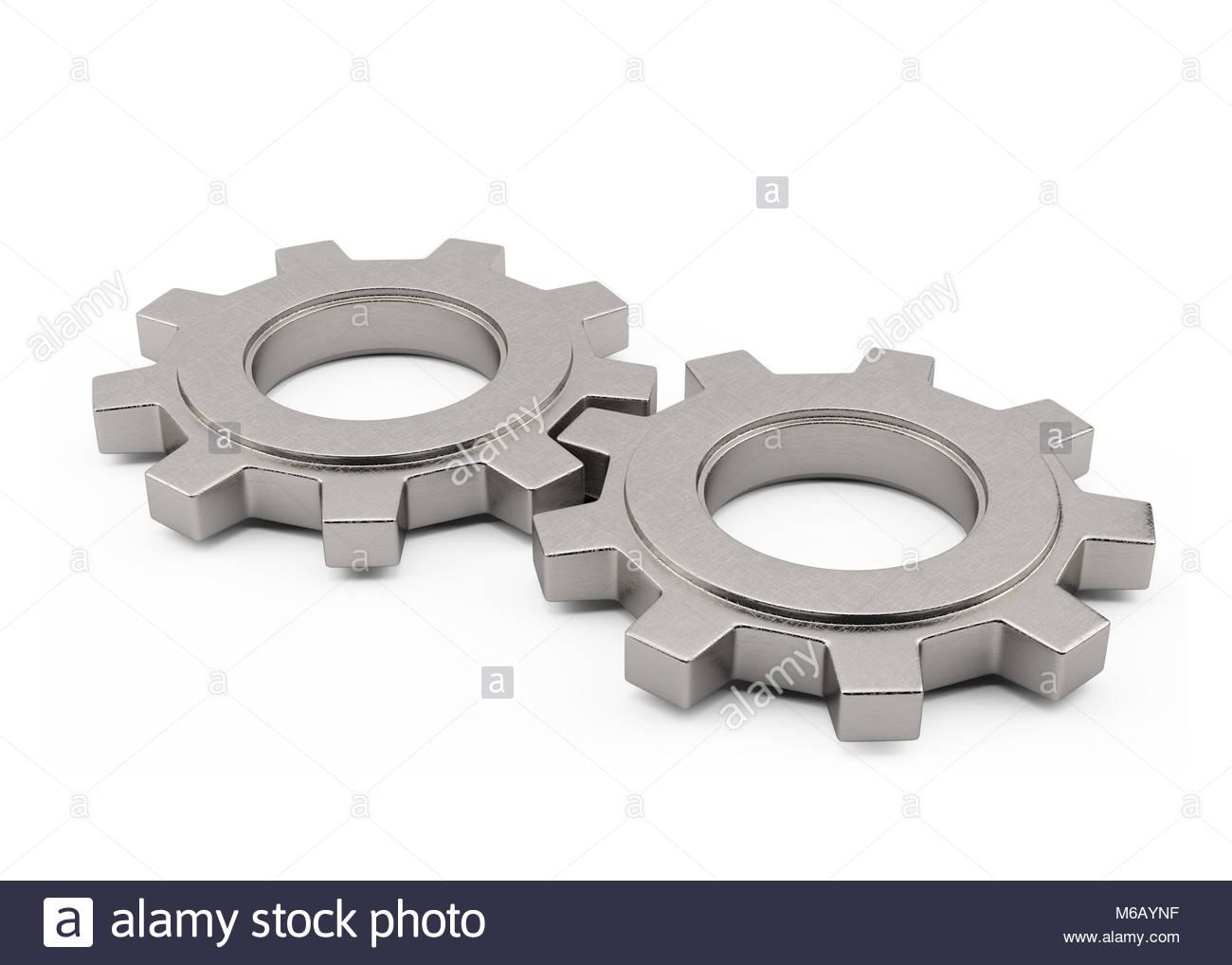 Metall Teile des Motors isoliert auf weißem Stockfoto, Bild ...