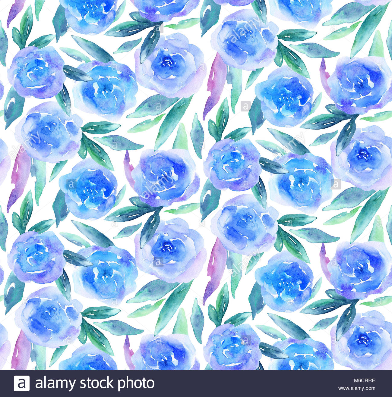 blau aquarell blumen muster teal floral background stockfoto bild 176073730 alamy. Black Bedroom Furniture Sets. Home Design Ideas