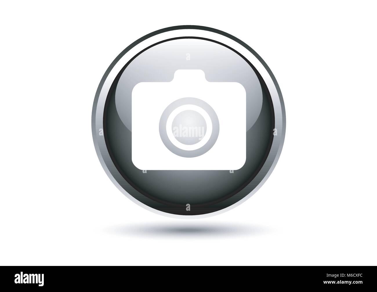 Vector Metallic Camera Icon Design Stockfotos & Vector Metallic ...