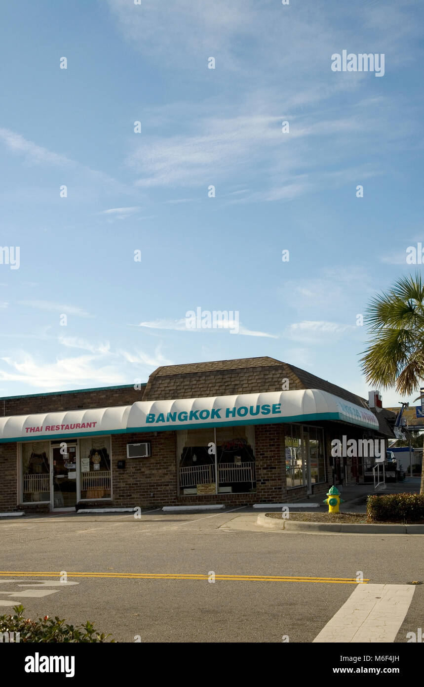 Bangkok House Thai Restaurant Myrtle Beach, SC USA. Stockbild