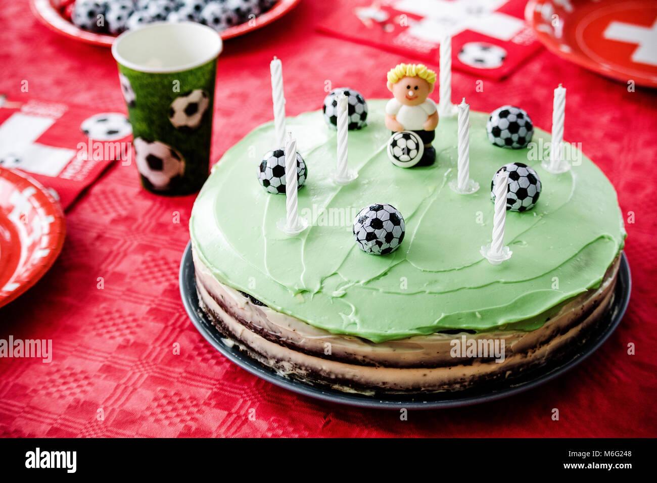 Kindergeburtstag Fussball Thema Schokolade Kuchen Wie