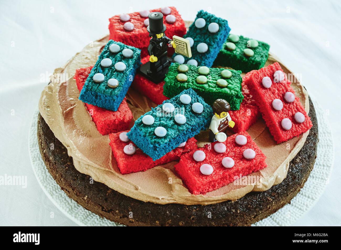 St Margrethen Sg Schweiz 3 Juli Schokoladenkuchen Mit Essbaren