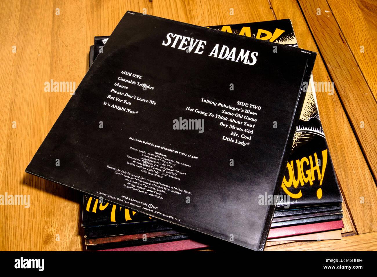 Alte Albumcover, Schallplatten der 70er Jahre Steve Adams Sängerin ...