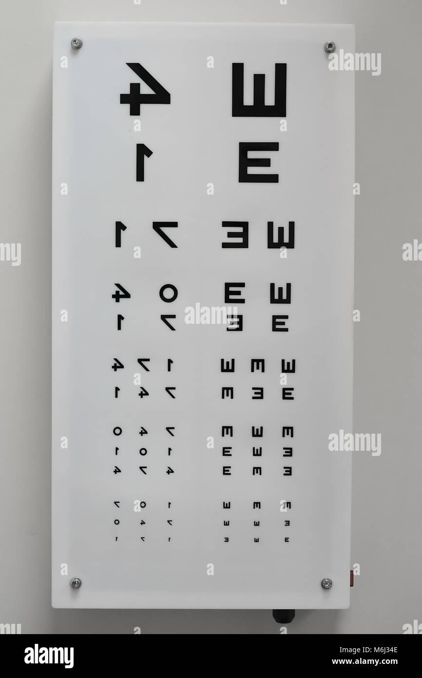 Zrenjanin Serbien Februar 2018 Auge Test Chart Fur Die Verwendung
