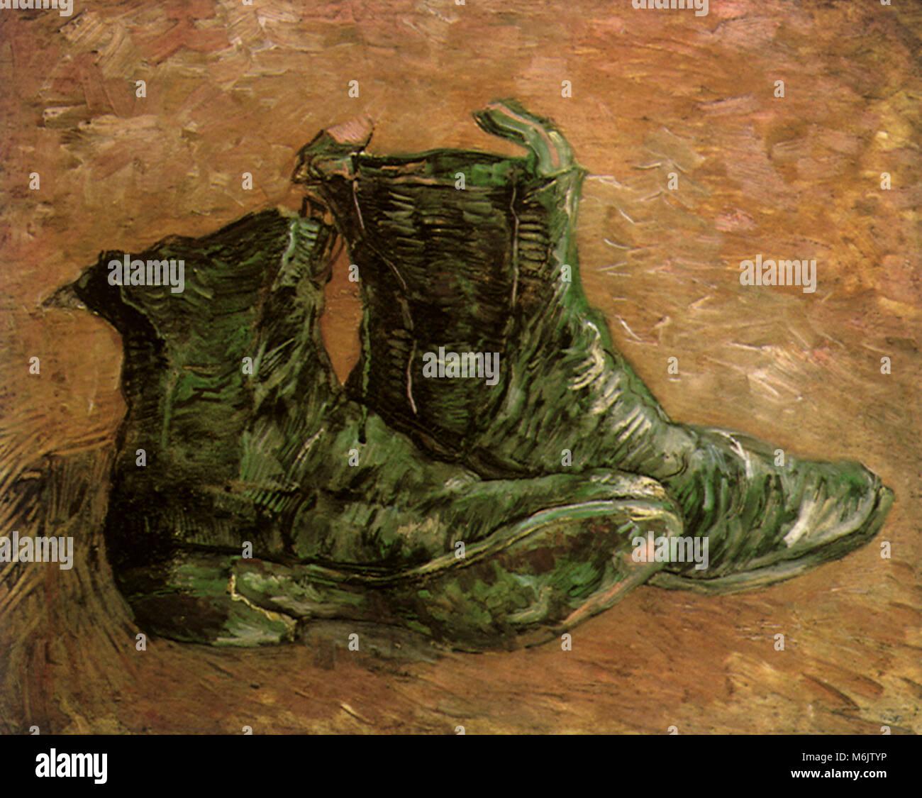 Vincent van Gogh ein Paar Schuhe (1887 Stockfoto, Bild