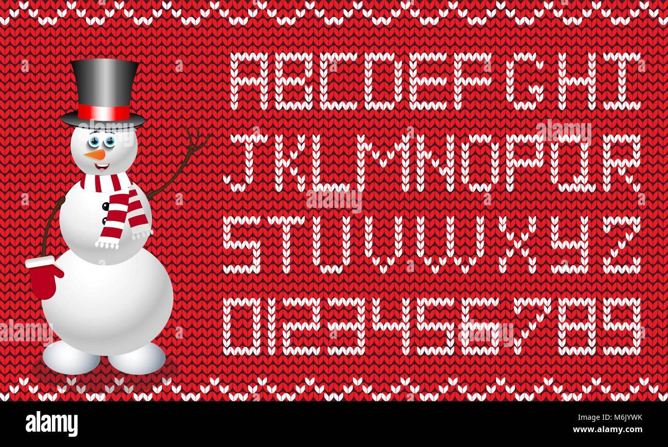 Weihnachten und neues Jahr Stoff script. Roter und weißer ...