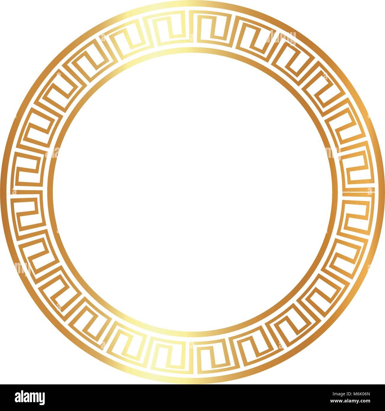 Gold Round Frame Stockfotos & Gold Round Frame Bilder - Alamy