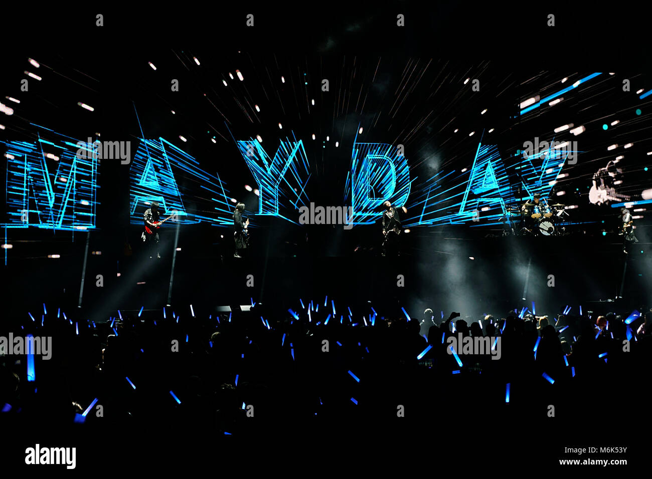 London, UK, 4. März, 2018. Mayday Konzert in der Londoner O2-Arena ...