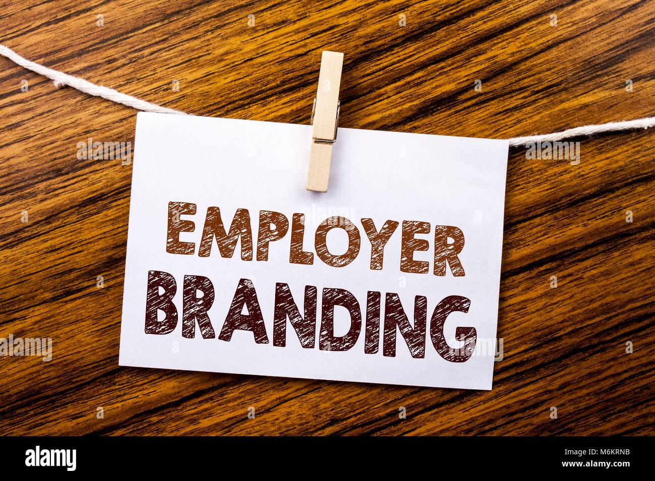 handschrift ansagetext übersicht employer branding. business konzept
