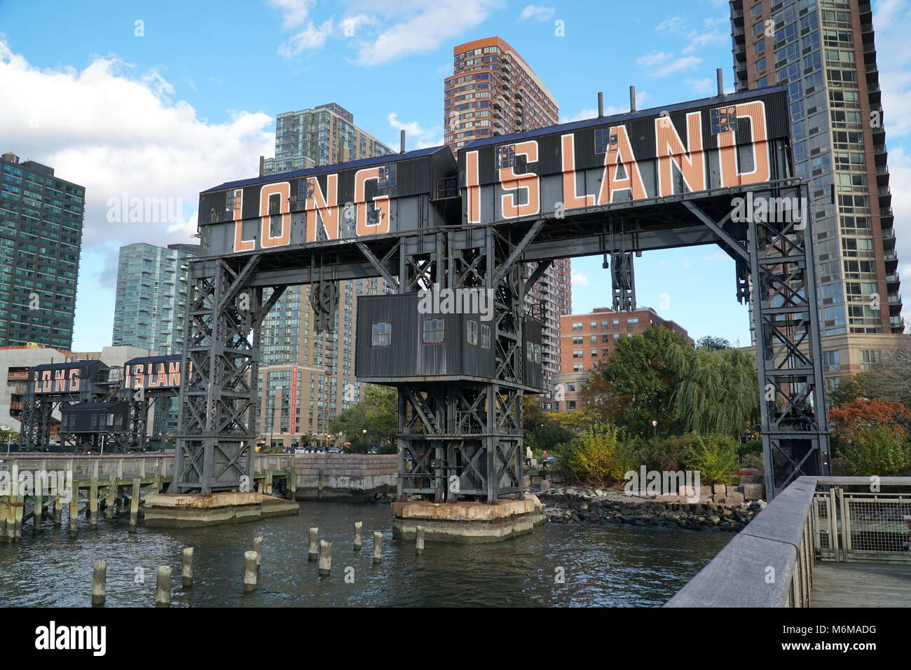 new york city oktober 2016 in der n he von long island anmelden gantry state park queens an. Black Bedroom Furniture Sets. Home Design Ideas