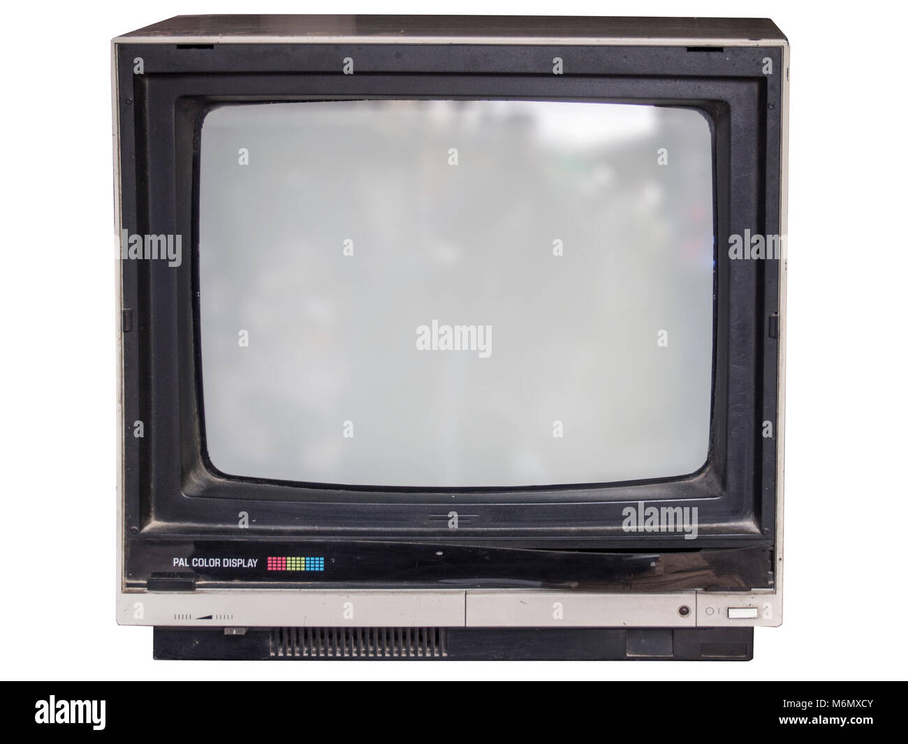 Fernseher Hintergrund alte röhre fernseher mit weißem hintergrund stockfoto, bild