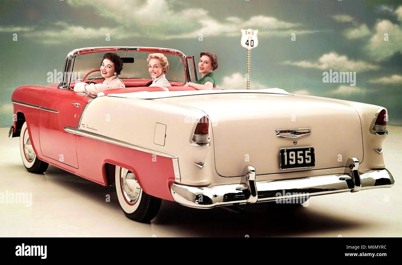 1955 Chevrolet Bel Air Convertible Stockbild