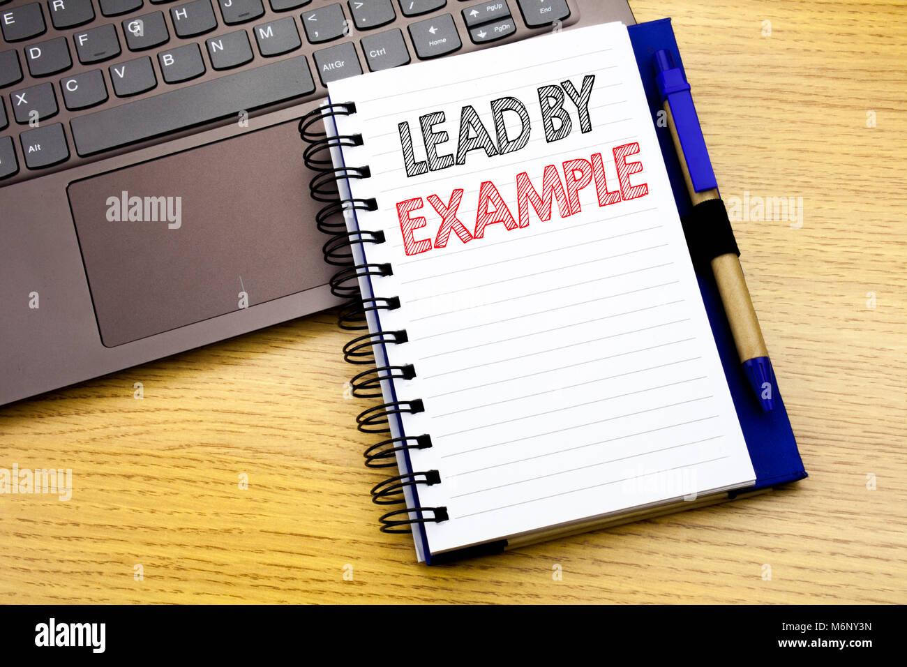 Schreiben Text Angezeigt Durch Beispiel Fuhren Business Konzept Fur