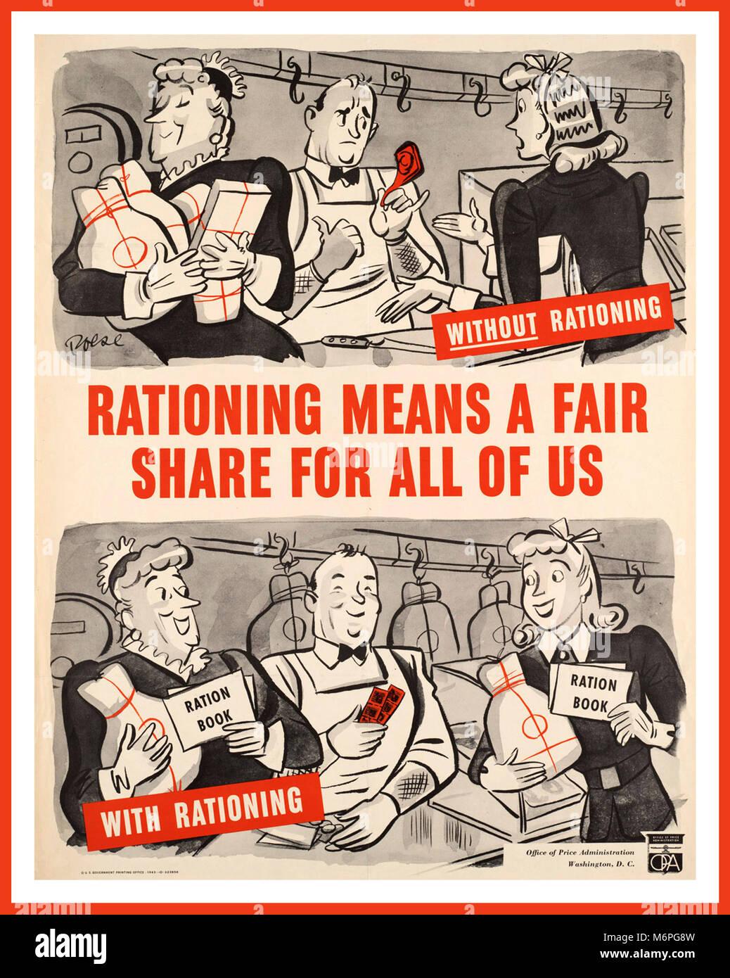 ww2 1943 vintage usa lebensmittel rationierungen poster weltkrieg 2 regierung reduziert die. Black Bedroom Furniture Sets. Home Design Ideas