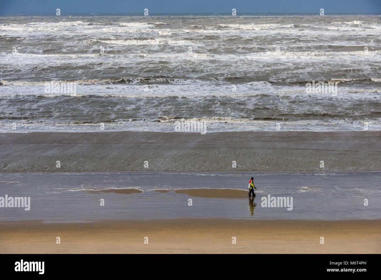 Zandvoort Niederlande 18 Januar 2018 Sturm An Der Nordsee In