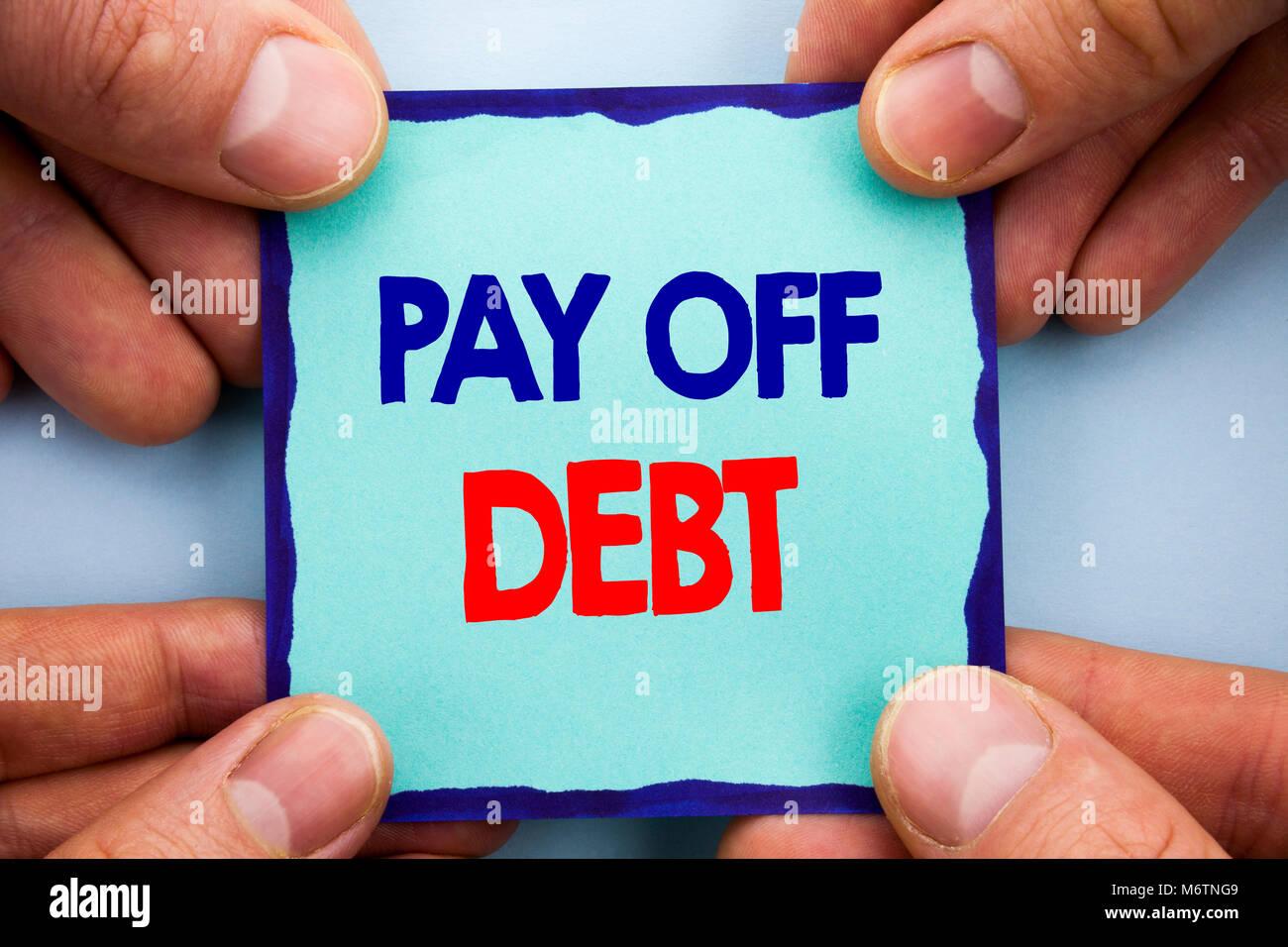 Handschrift Ansagetext übersicht Schulden Bezahlen Business Foto