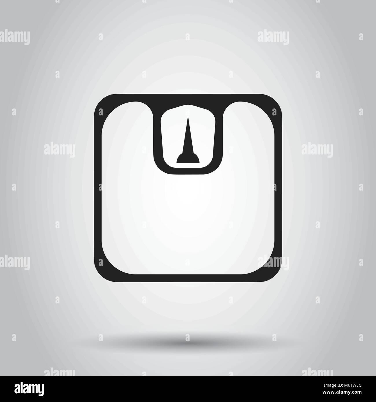 Personenwaage Waage Vektor icon. Waage, Gleichgewicht zeichen ...