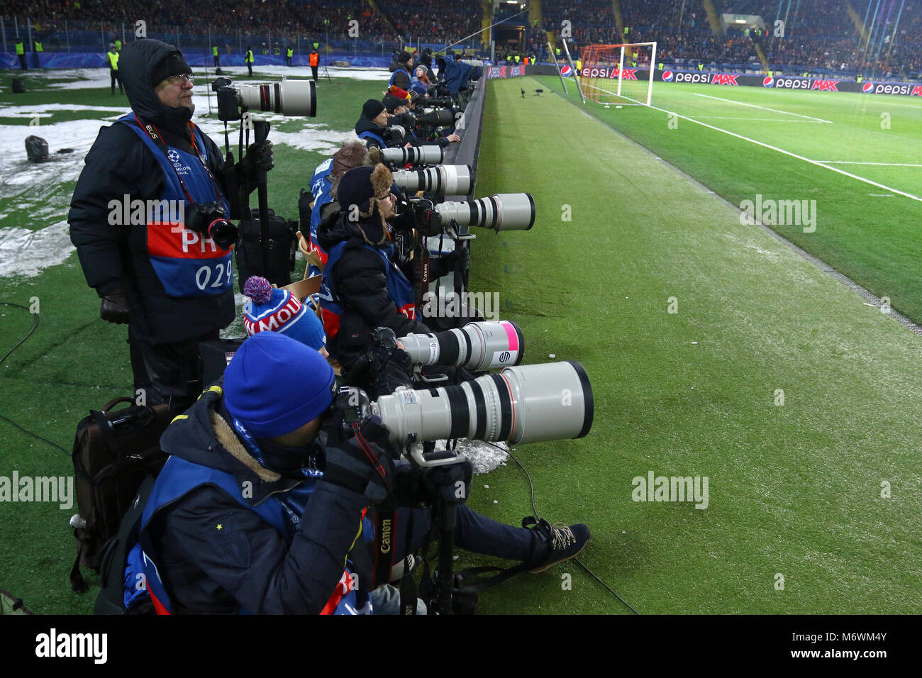 Charkow Ukraine 21 Februar 2018 Fussball Fotografen Bei