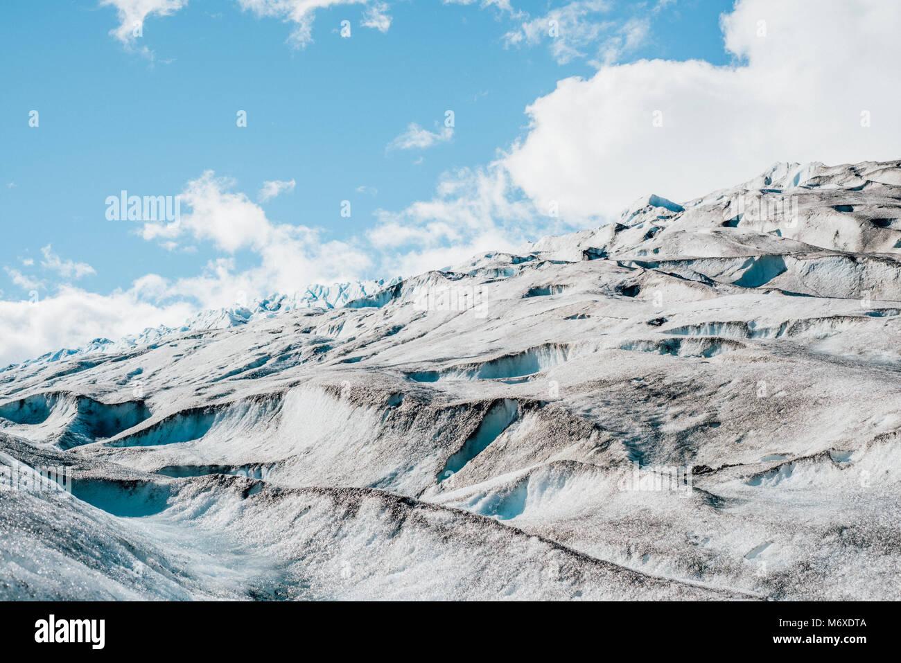 Auf der Ausfahrt Glacier Stockbild