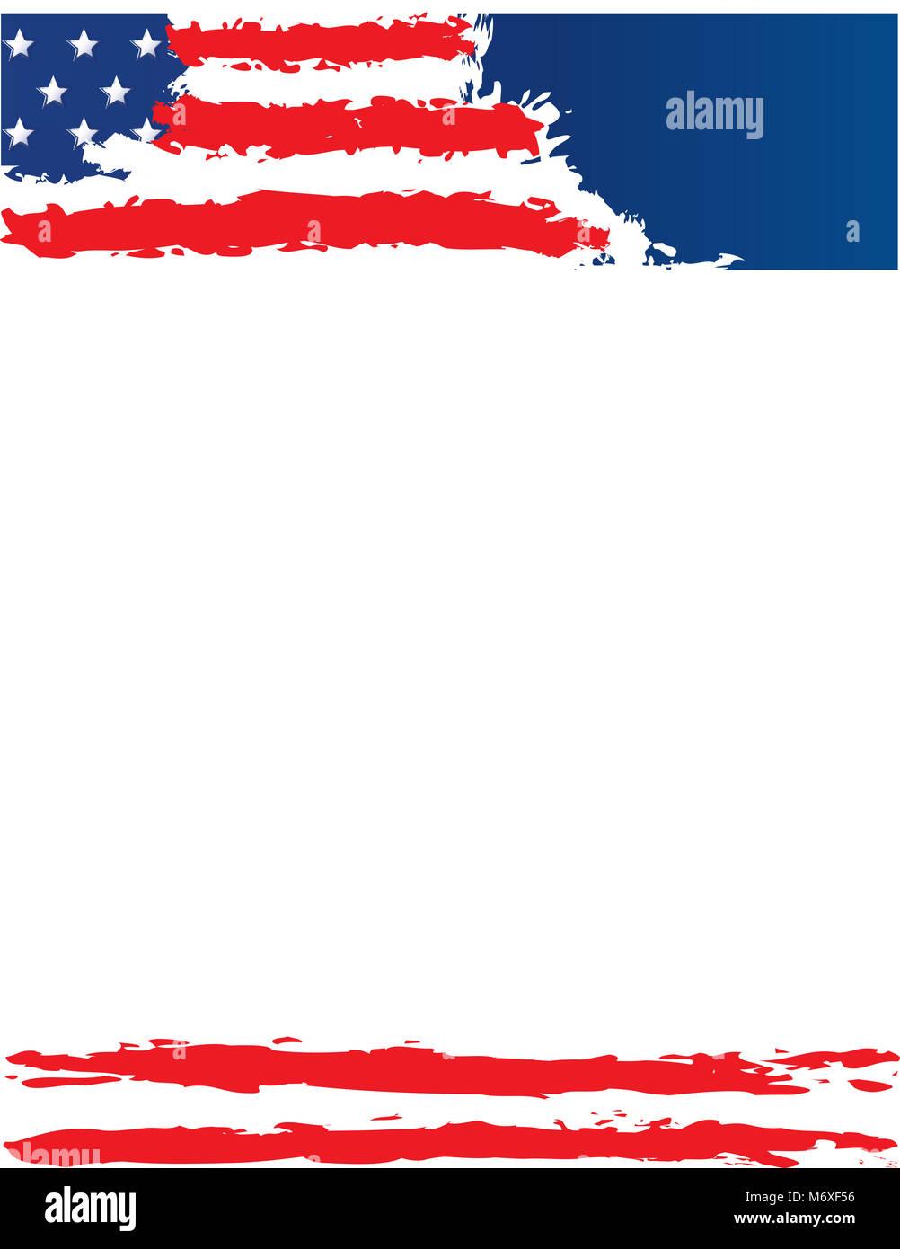Fein Flagge Der Vereinigten Staaten Vorlage Bilder - Entry Level ...
