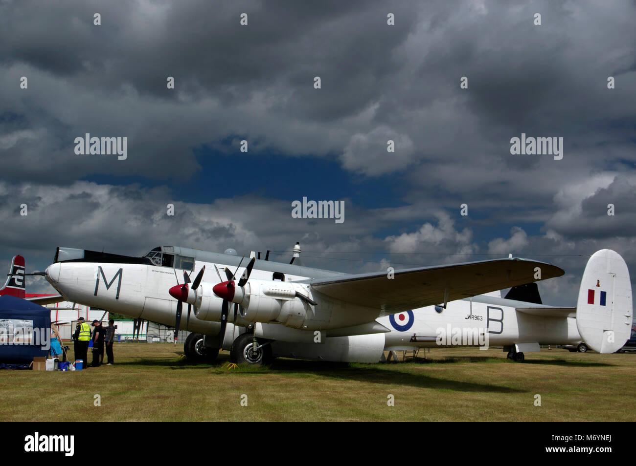 AVRO Shackleton an Coventry Stockbild