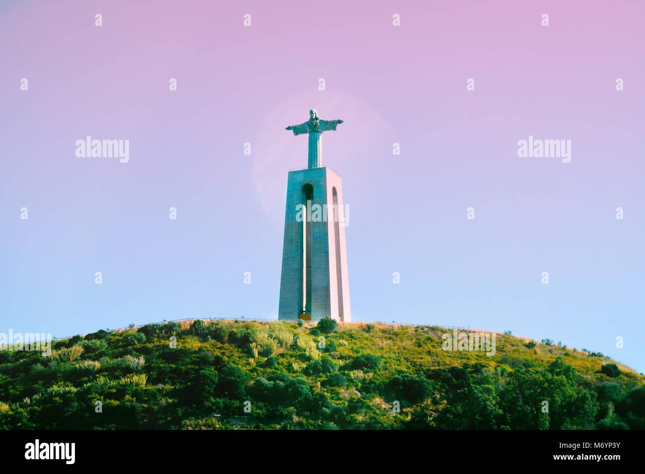 Die Cristo Rei Monument, das von Jesus Christus in Lissabon. Stockbild