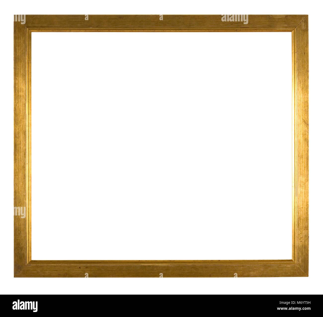 Großen, leeren Bilderrahmen, Distressed gold Finish Stockfoto, Bild ...