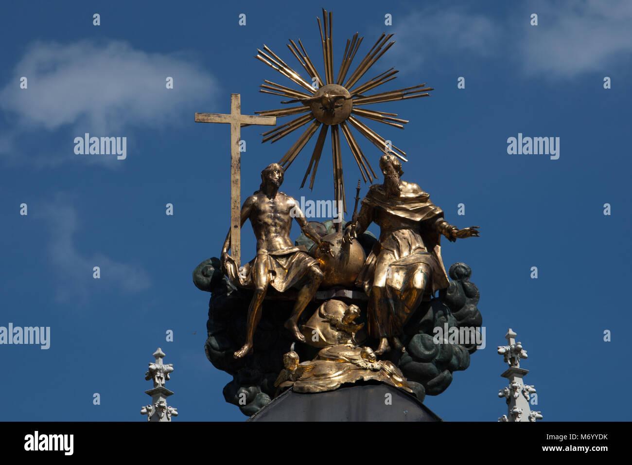 Den berühmten Brunnen Sankt Corona. Hier eine eucharistische Wunder entstanden, daher das Wasser heilende Wirkung Stockbild