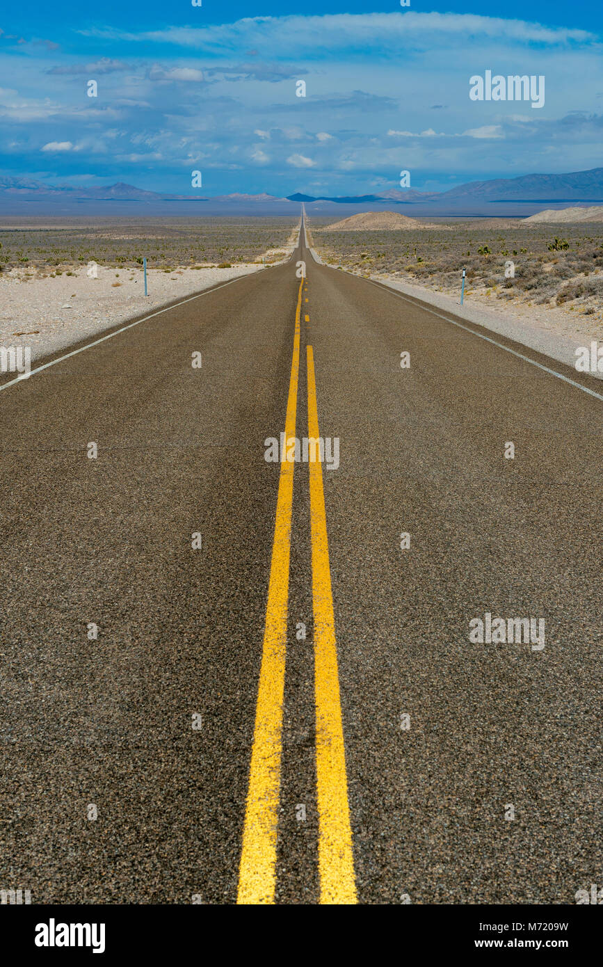 Die Extraterrestrial Highway, Highway, Route 375, Nevada Stockbild