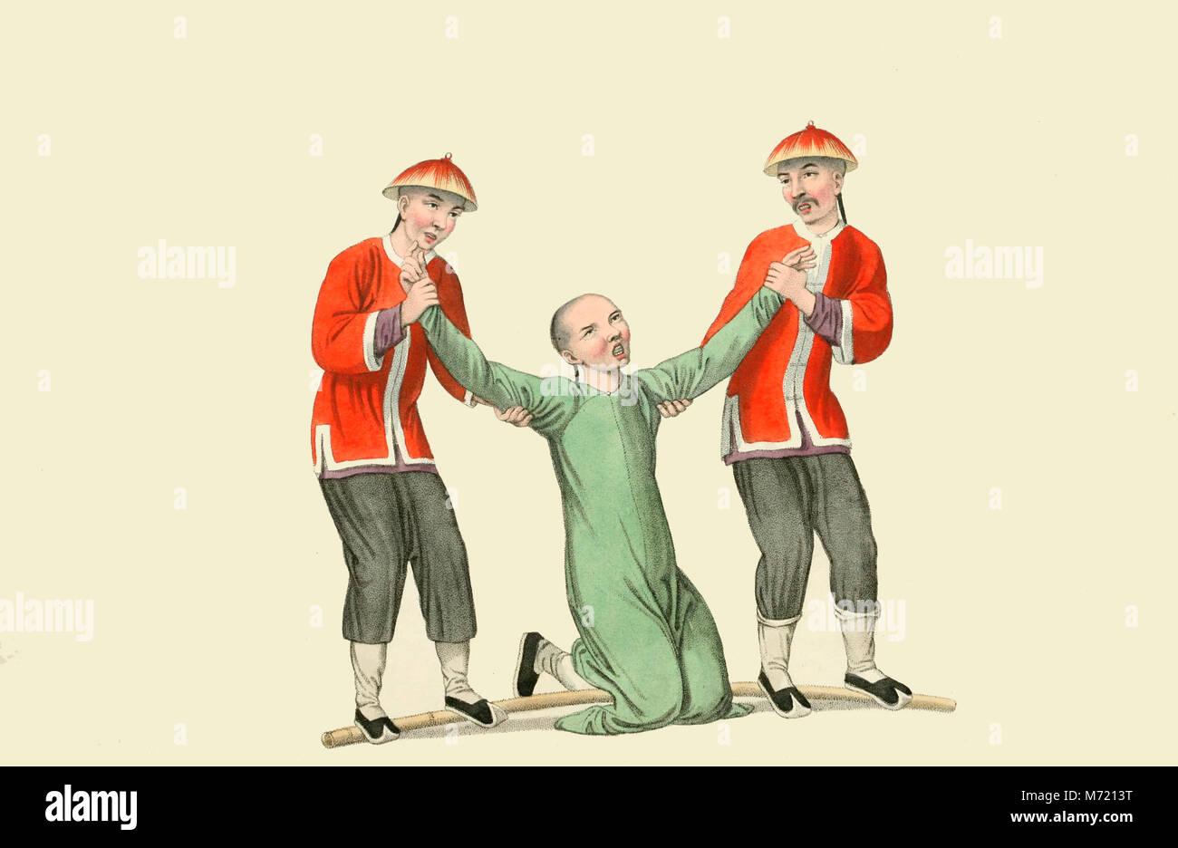 Die Bestrafung eines Dolmetschers - ein großes Stück Bambus ...