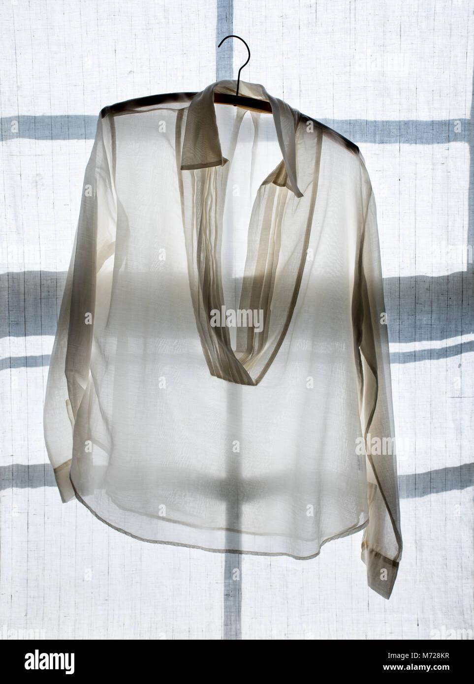 Bluse durchsichtige weiße Sexy Blusen,