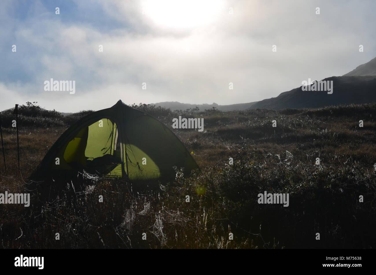 Camping auf dem Arctic Circle Trail Stockbild